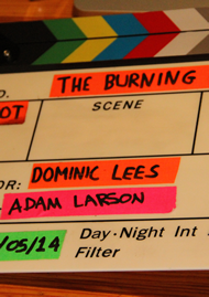 Clapper-board from The Burning